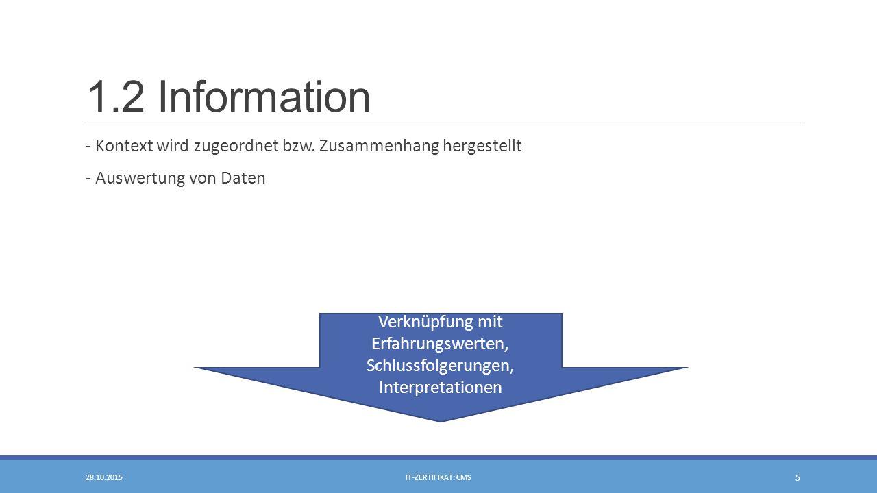 1.2 Information - Kontext wird zugeordnet bzw.