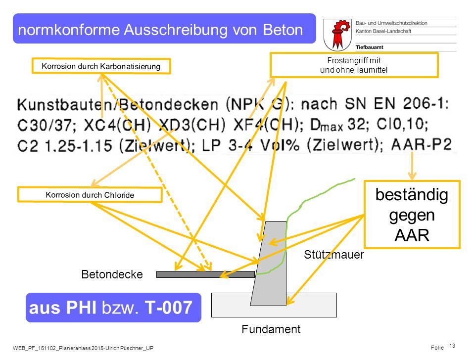 WEB_PF_151102_Planeranlass 2015-Ulrich Püschner_UP Folie Betondecke Fundament Stützmauer aus PHI bzw. T-007 13 Korrosion durch Chloride Frostangriff m