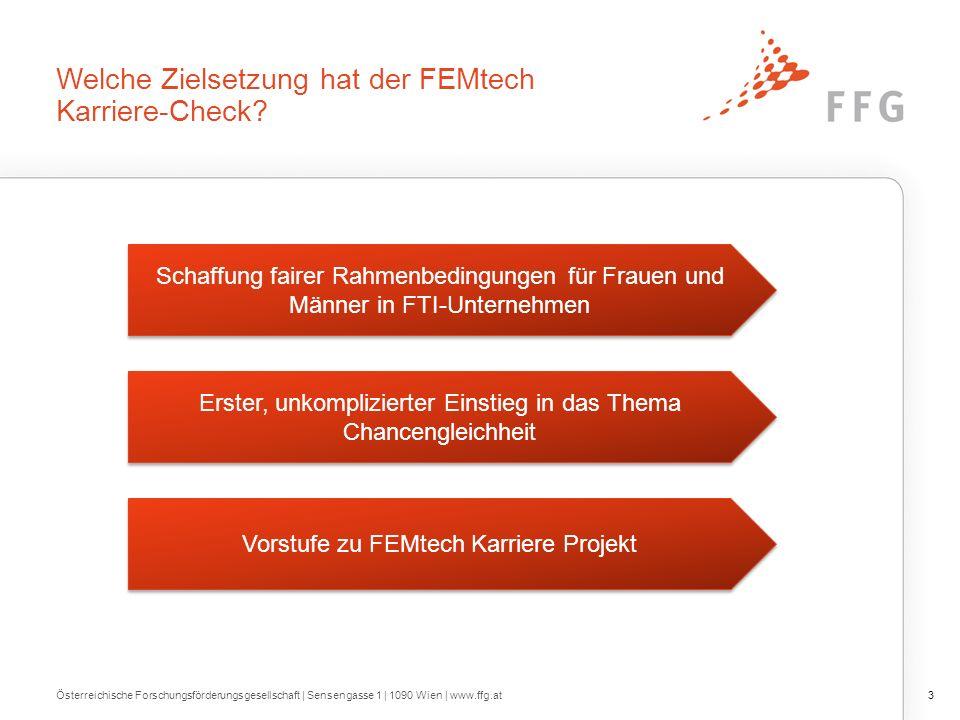 Welche Zielsetzung hat der FEMtech Karriere-Check.