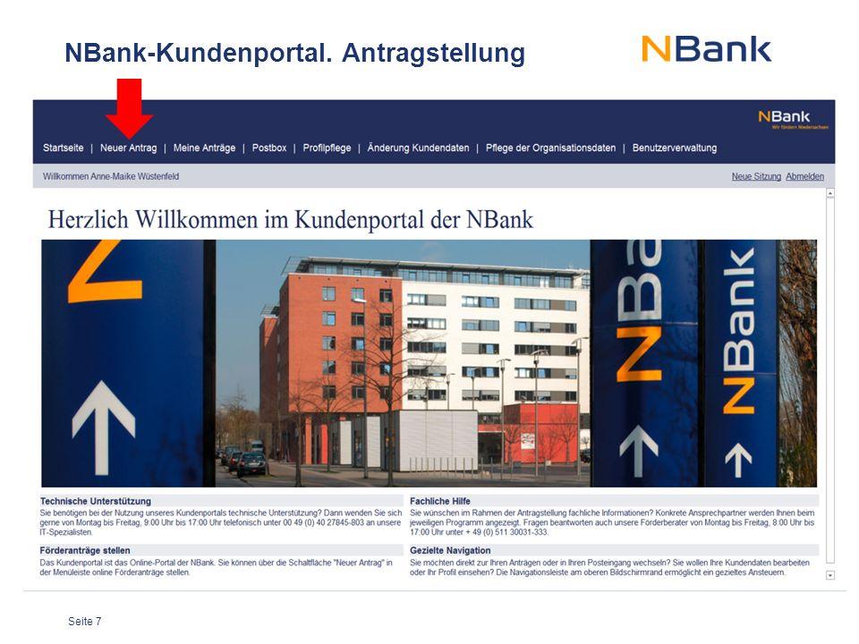 Seite 7 NBank-Kundenportal. Antragstellung