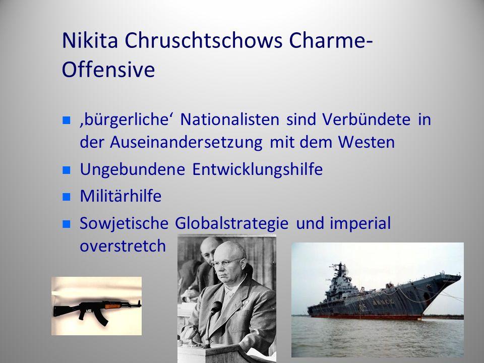 Nikita Chruschtschows Charme- Offensive 'bürgerliche' Nationalisten sind Verbündete in der Auseinandersetzung mit dem Westen Ungebundene Entwicklungsh