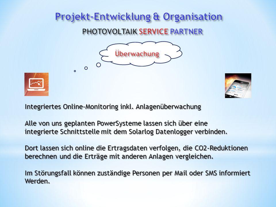 Integriertes Online-Monitoring inkl.