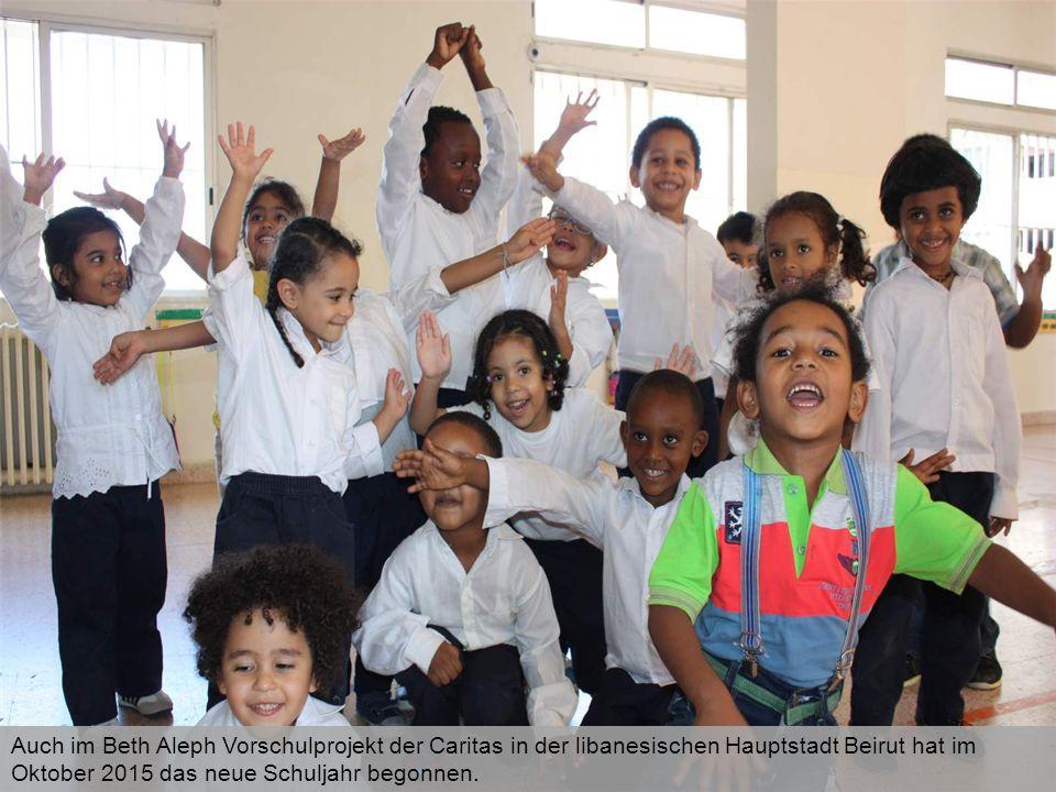 Auch im Beth Aleph Vorschulprojekt der Caritas in der libanesischen Hauptstadt Beirut hat im Oktober 2015 das neue Schuljahr begonnen.