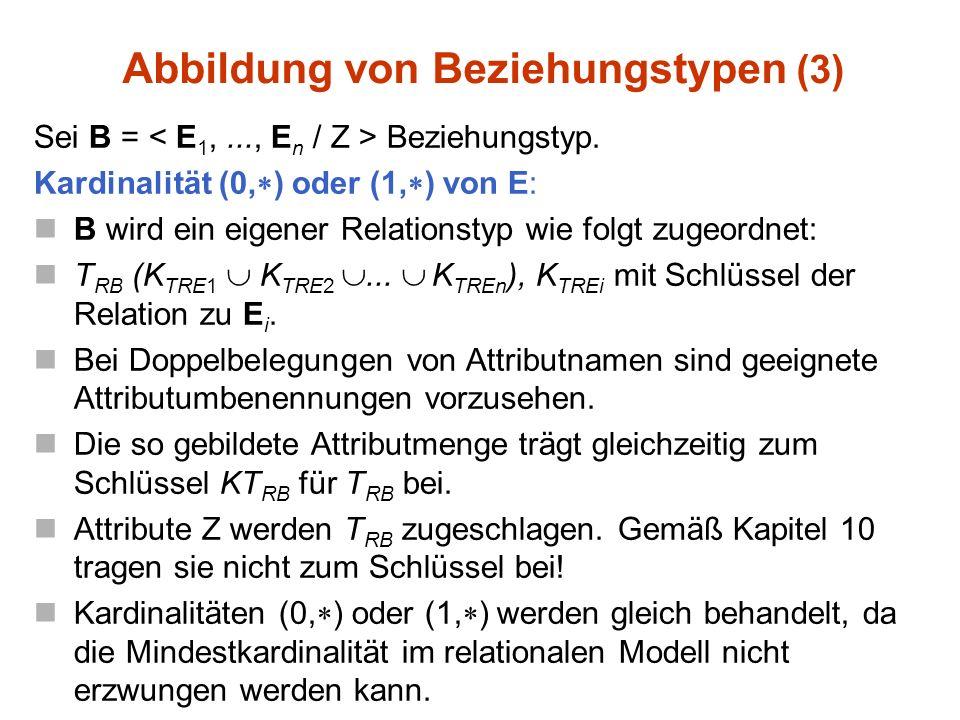 Sei B = Beziehungstyp.