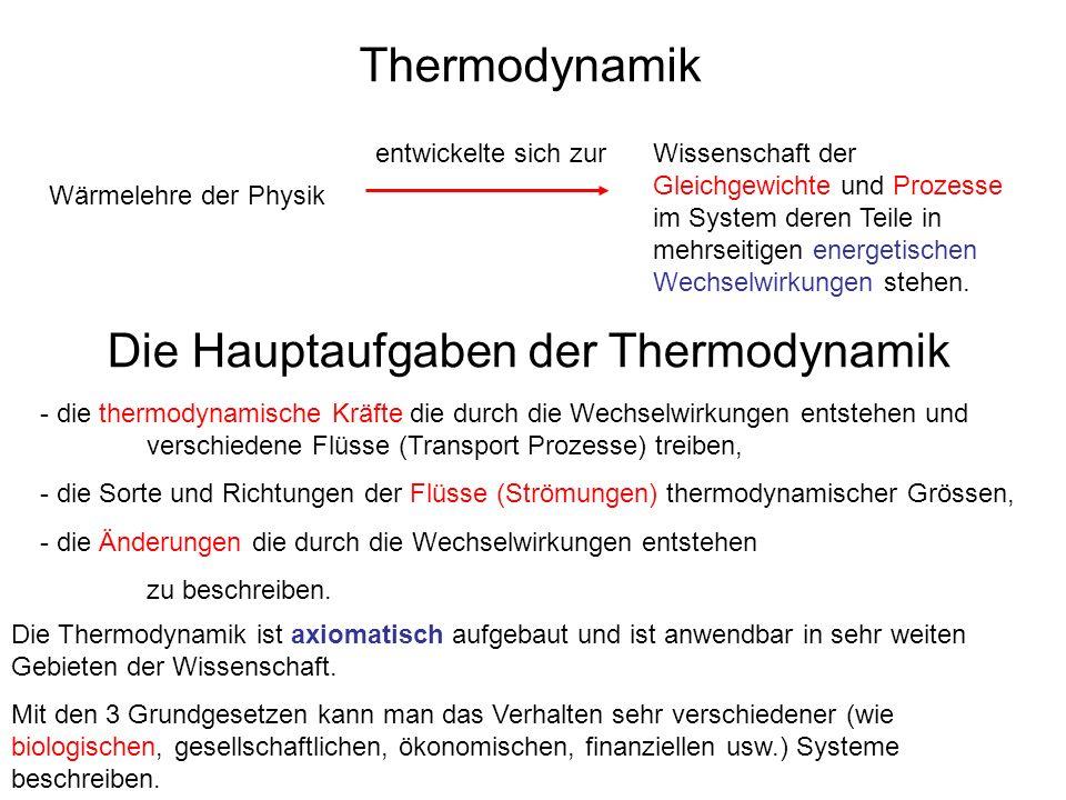 Thermodynamik Wärmelehre der Physik Wissenschaft der Gleichgewichte und Prozesse im System deren Teile in mehrseitigen energetischen Wechselwirkungen stehen.