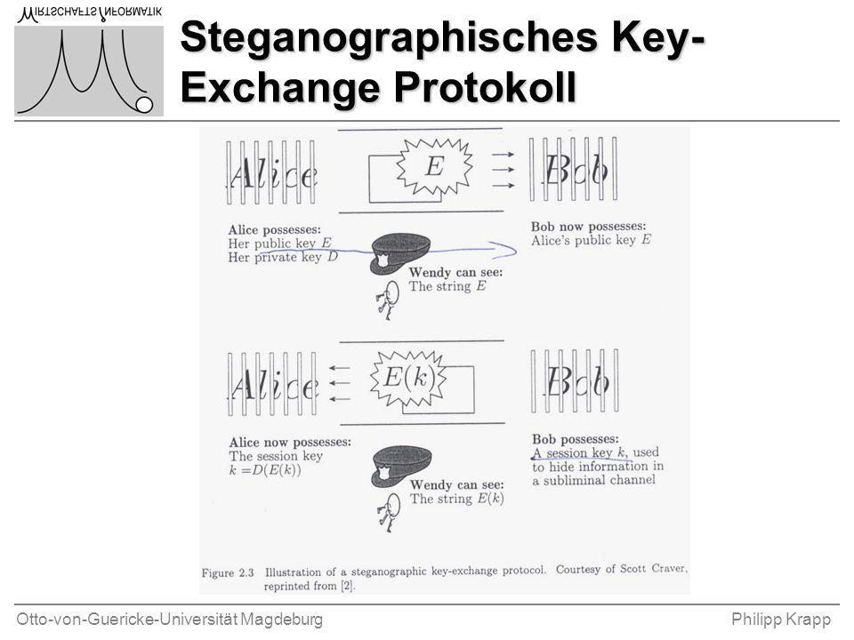 Otto-von-Guericke-Universität MagdeburgPhilipp Krapp Steganographisches Key- Exchange Protokoll