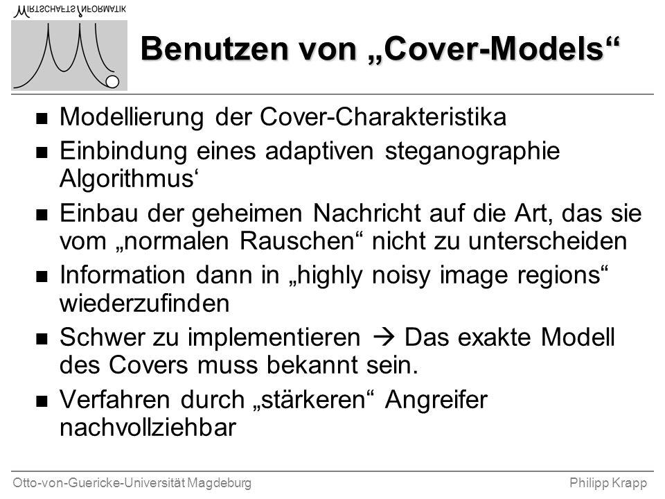 """Otto-von-Guericke-Universität MagdeburgPhilipp Krapp Benutzen von """"Cover-Models"""" n Modellierung der Cover-Charakteristika n Einbindung eines adaptiven"""