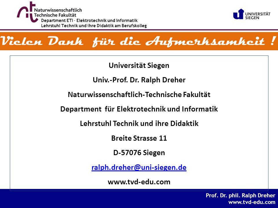 Prof. Dr. phil. Ralph Dreher www.tvd-edu.com Prof.
