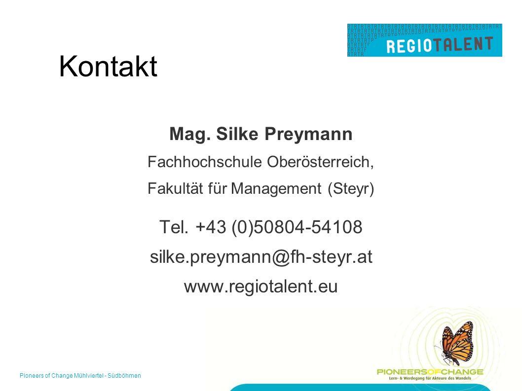 Kontakt Mag. Silke Preymann Fachhochschule Oberösterreich, Fakultät für Management (Steyr) Tel.