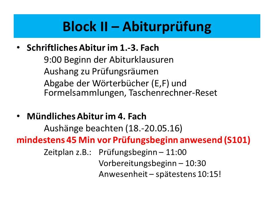 Schriftliches Abitur im 1.-3.
