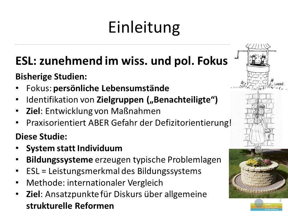 Einleitung 2 ESL: zunehmend im wiss. und pol.