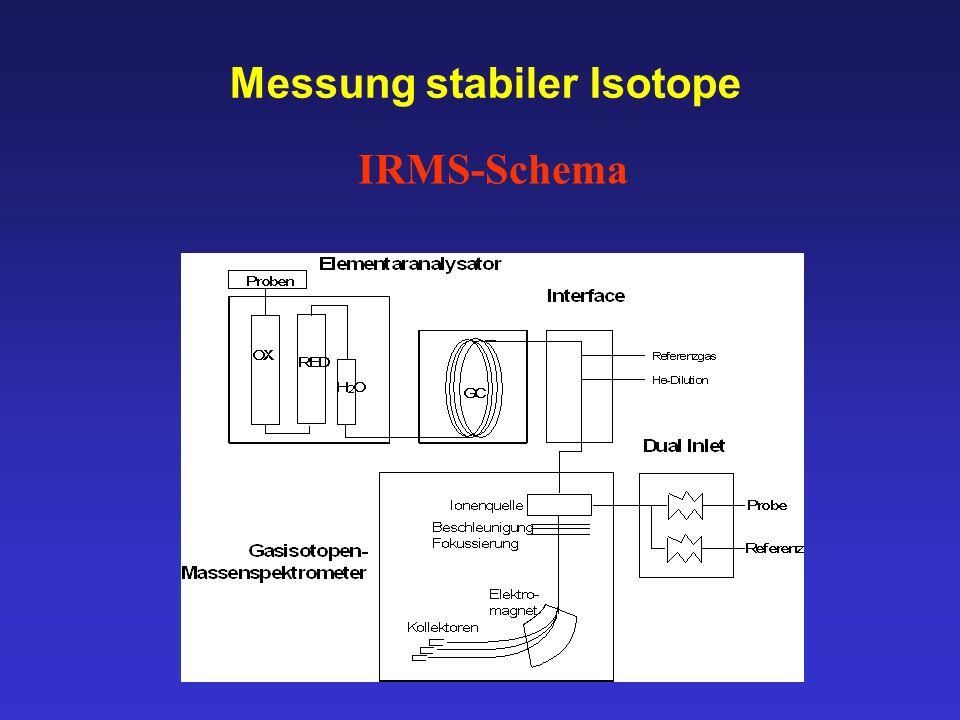 Messung stabiler Isotope IRMS-Schema