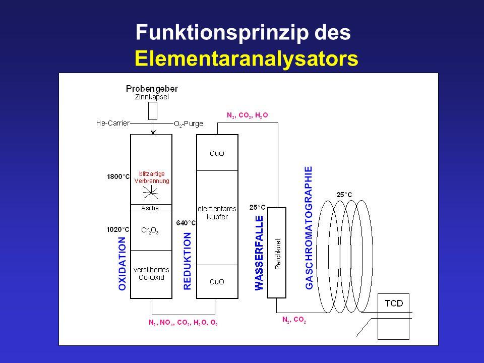 Funktionsprinzip des Elementaranalysators