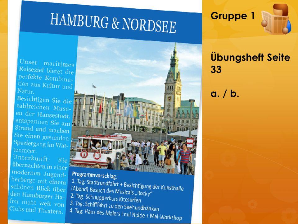 Gruppe 2Übungsheft Seite 33 a. / b.
