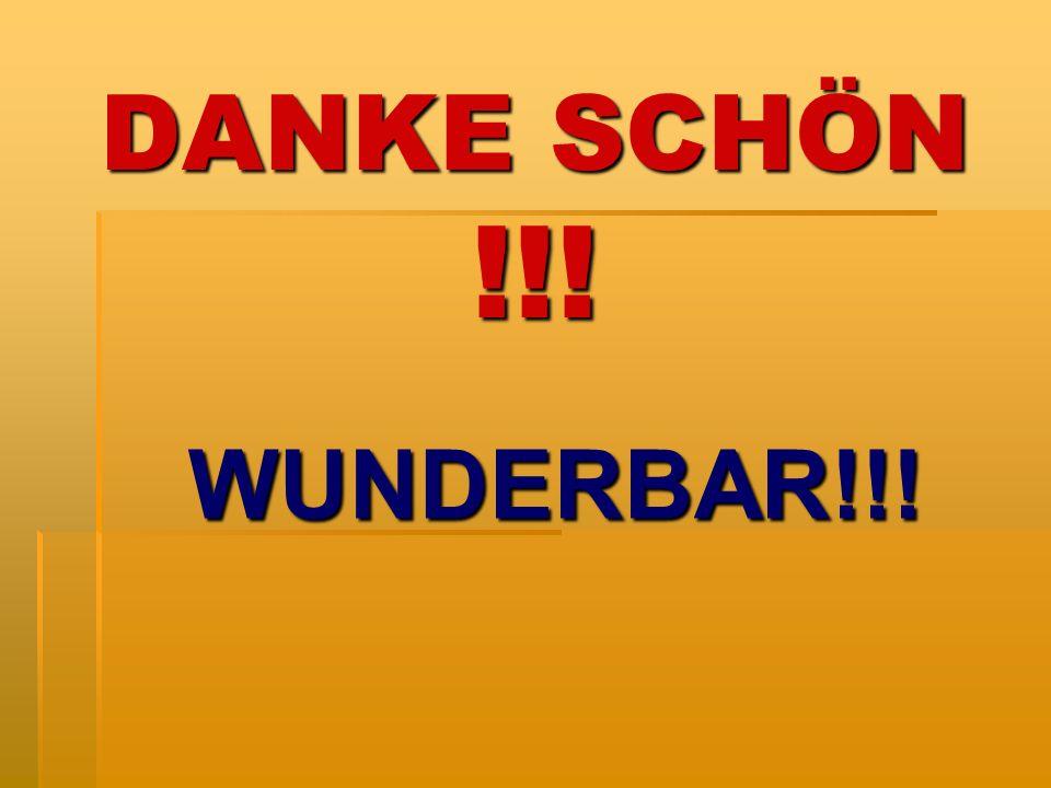 DANKE SCHÖN !!! WUNDERBAR!!!