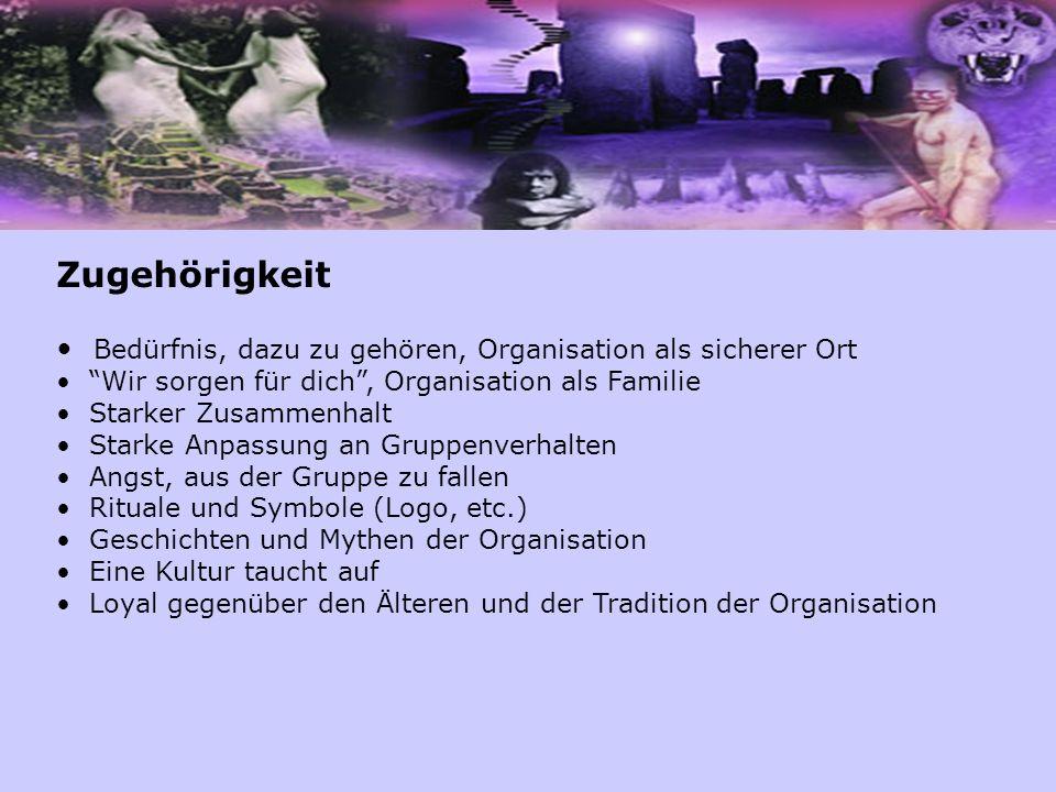 """Zugehörigkeit Bedürfnis, dazu zu gehören, Organisation als sicherer Ort """"Wir sorgen für dich"""", Organisation als Familie Starker Zusammenhalt Starke An"""