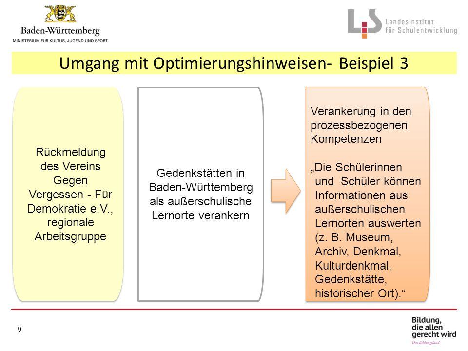 Herzlichen Dank für Ihre Aufmerksamkeit Weitere Informationen zur Bildungsplanreform: www.km-bw.de www.kultusportal-bw.de www.bildungsplaene-bw.de 20