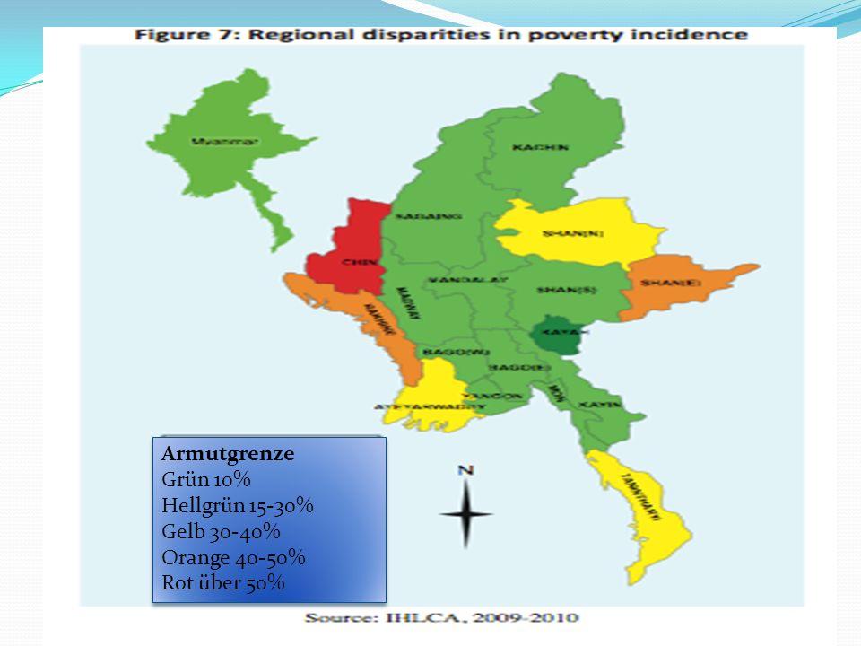Armut Armutgrenze Grün 10% Hellgrün 15-30% Gelb 30-40% Orange 40-50% Rot über 50% Armutgrenze Grün 10% Hellgrün 15-30% Gelb 30-40% Orange 40-50% Rot über 50%