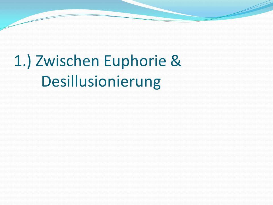 1.) Zwischen Euphorie & Desillusionierung