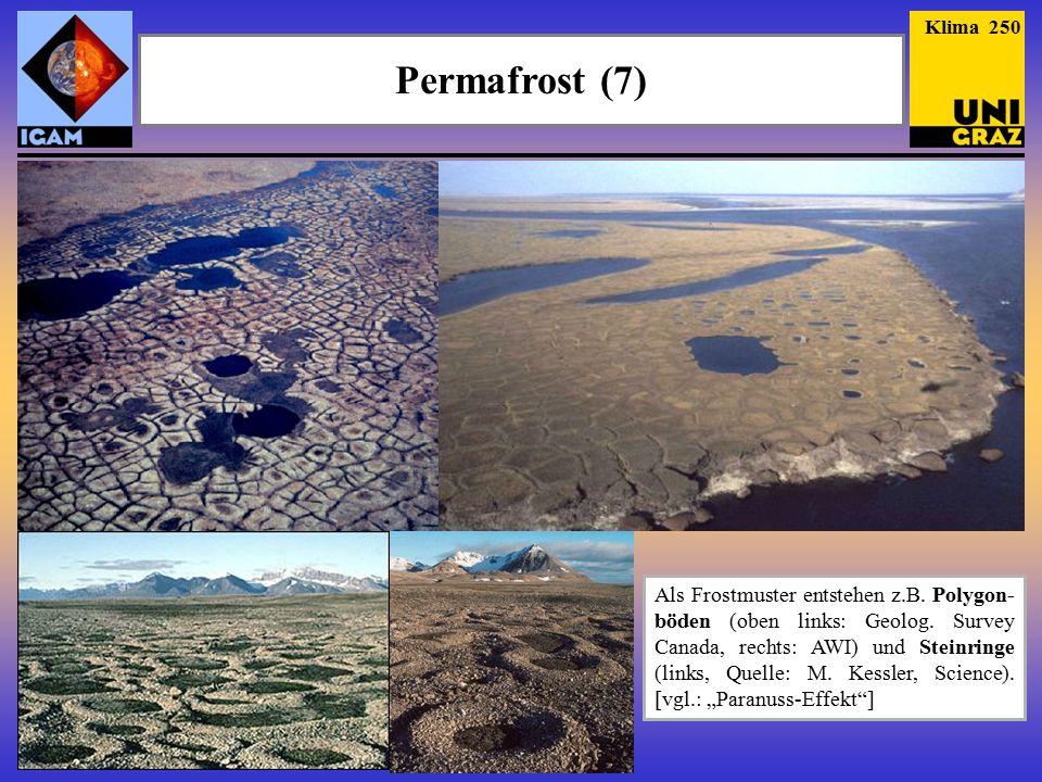 Permafrost (7) Klima 250 Als Frostmuster entstehen z.B.