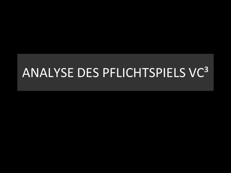 ANALYSE DES PFLICHTSPIELS VC³