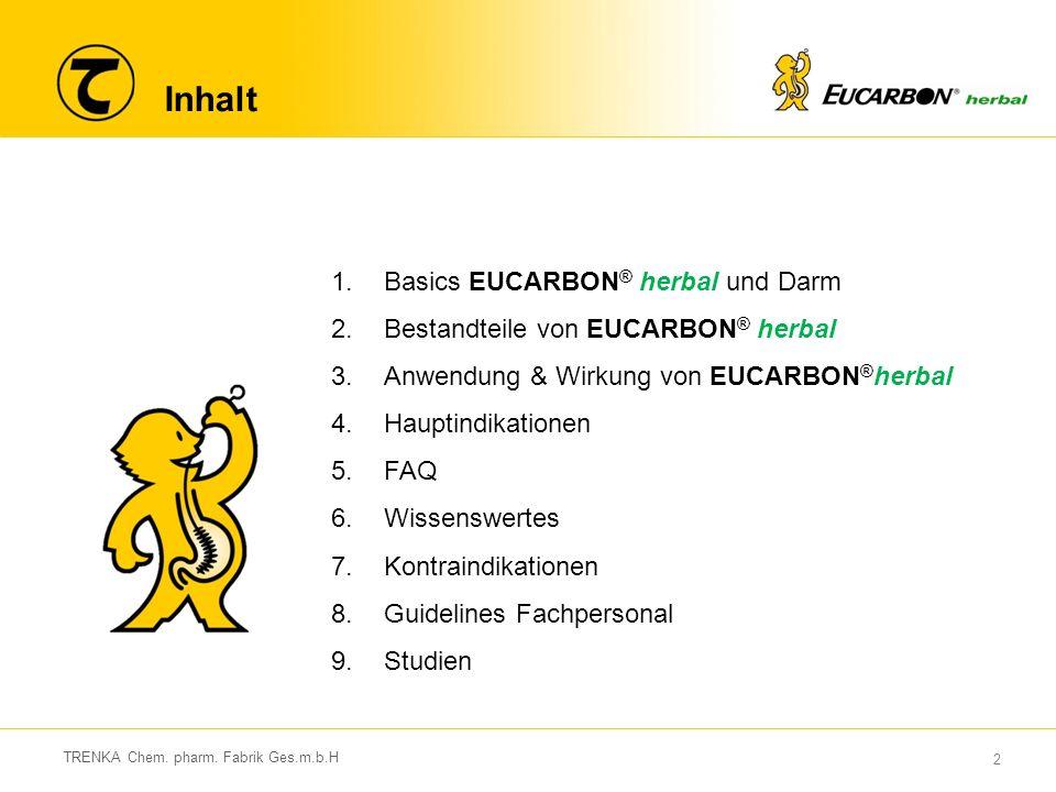 23 TRENKA Chem.pharm. Fabrik Ges.m.b.H 5. FAQ Warum sorgt EUCARBON ® für weichen Stuhl.