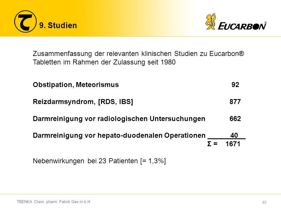 40 TRENKA Chem. pharm. Fabrik Ges.m.b.H 9.