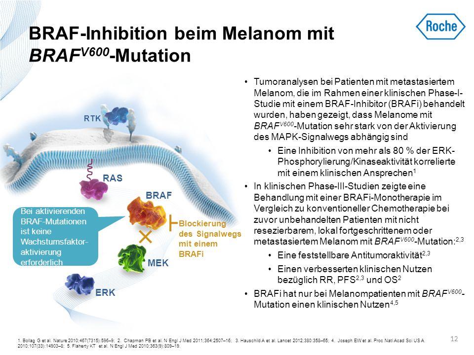BRAF-Inhibition beim Melanom mit BRAF V600 -Mutation Tumoranalysen bei Patienten mit metastasiertem Melanom, die im Rahmen einer klinischen Phase-I- S