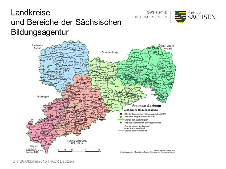 Landkreise und Bereiche der Sächsischen Bildungsagentur | 28.Oktober2015 | KER Bautzen2