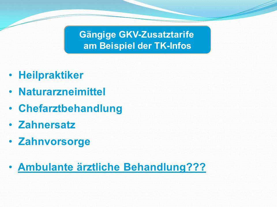 Heilpraktiker Naturarzneimittel Chefarztbehandlung Zahnersatz Zahnvorsorge Ambulante ärztliche Behandlung .