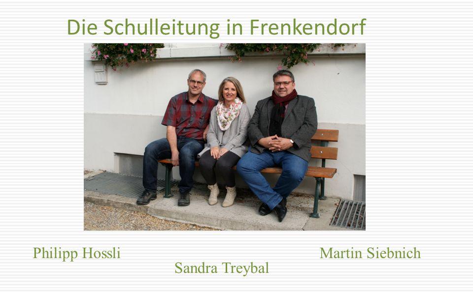 Die Schulleitung in Frenkendorf Philipp Hossli Sandra Treybal Martin Siebnich