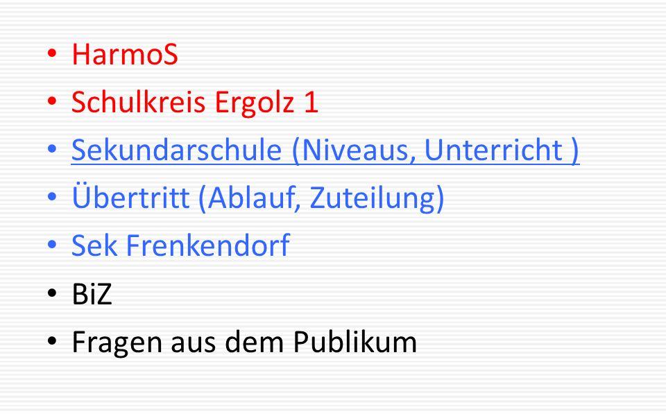 Sekundarschule 3 jährige niveauspezifische Ausbildung Niveau A: Allgemeine Anforderungen inkl.