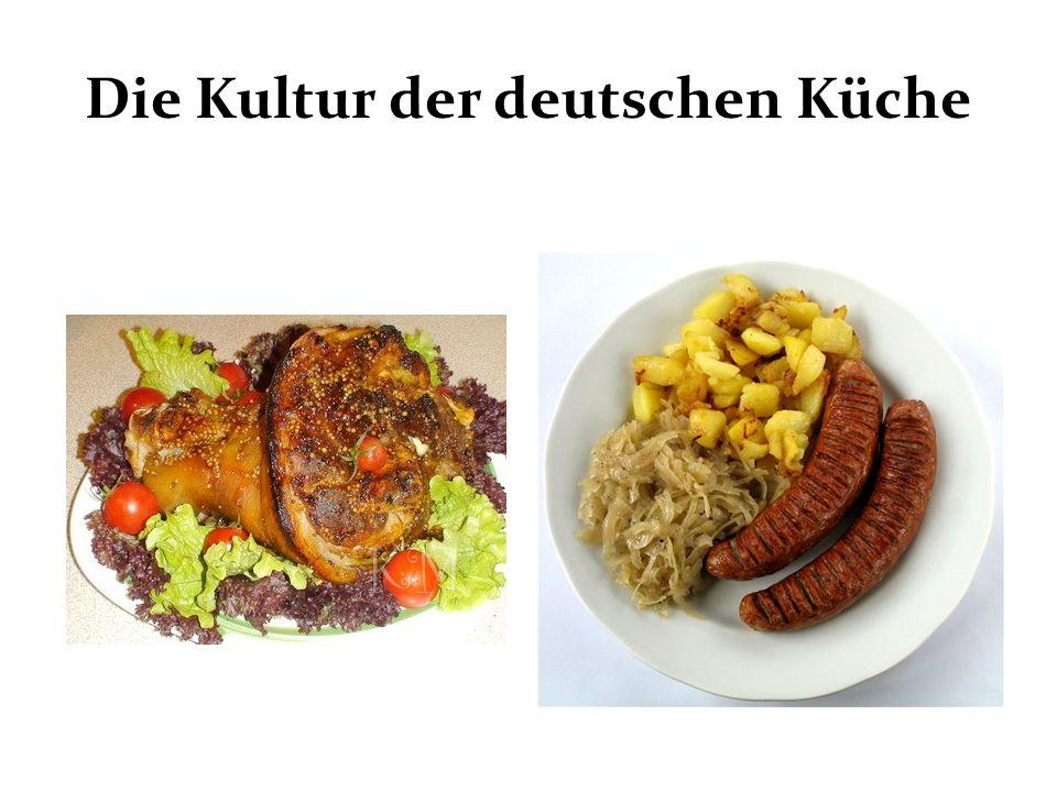 Die Kultur der deutschen Küche