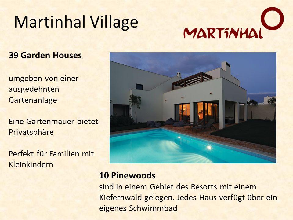 Martinhal Village 39 Garden Houses umgeben von einer ausgedehnten Gartenanlage Eine Gartenmauer bietet Privatsphäre Perfekt für Familien mit Kleinkindern 10 Pinewoods sind in einem Gebiet des Resorts mit einem Kiefernwald gelegen.