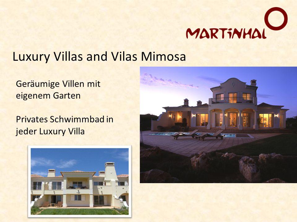 Luxury Villas and Vilas Mimosa Geräumige Villen mit eigenem Garten Privates Schwimmbad in jeder Luxury Villa