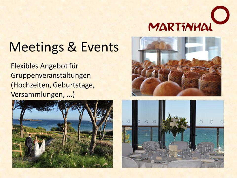 Flexibles Angebot für Gruppenveranstaltungen (Hochzeiten, Geburtstage, Versammlungen,...) Meetings & Events