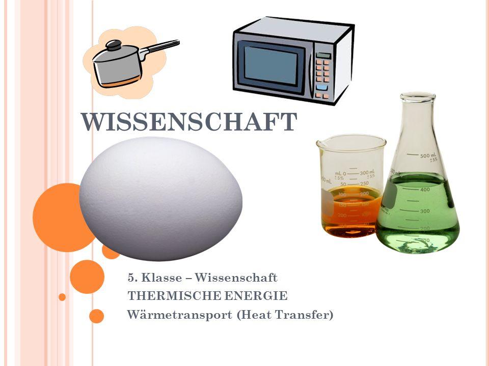 WISSENSCHAFT 5. Klasse – Wissenschaft THERMISCHE ENERGIE Wärmetransport (Heat Transfer)