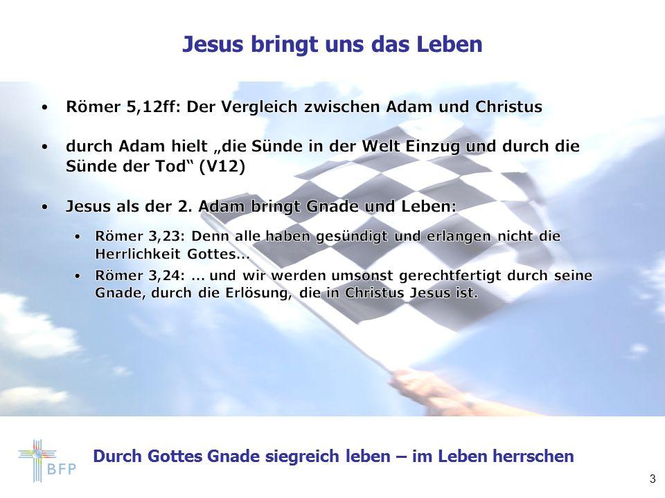 Durch Gottes Gnade siegreich leben – im Leben herrschen Jesus bringt uns das Leben 3