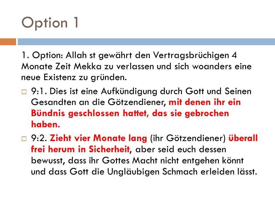 Option 1 1.