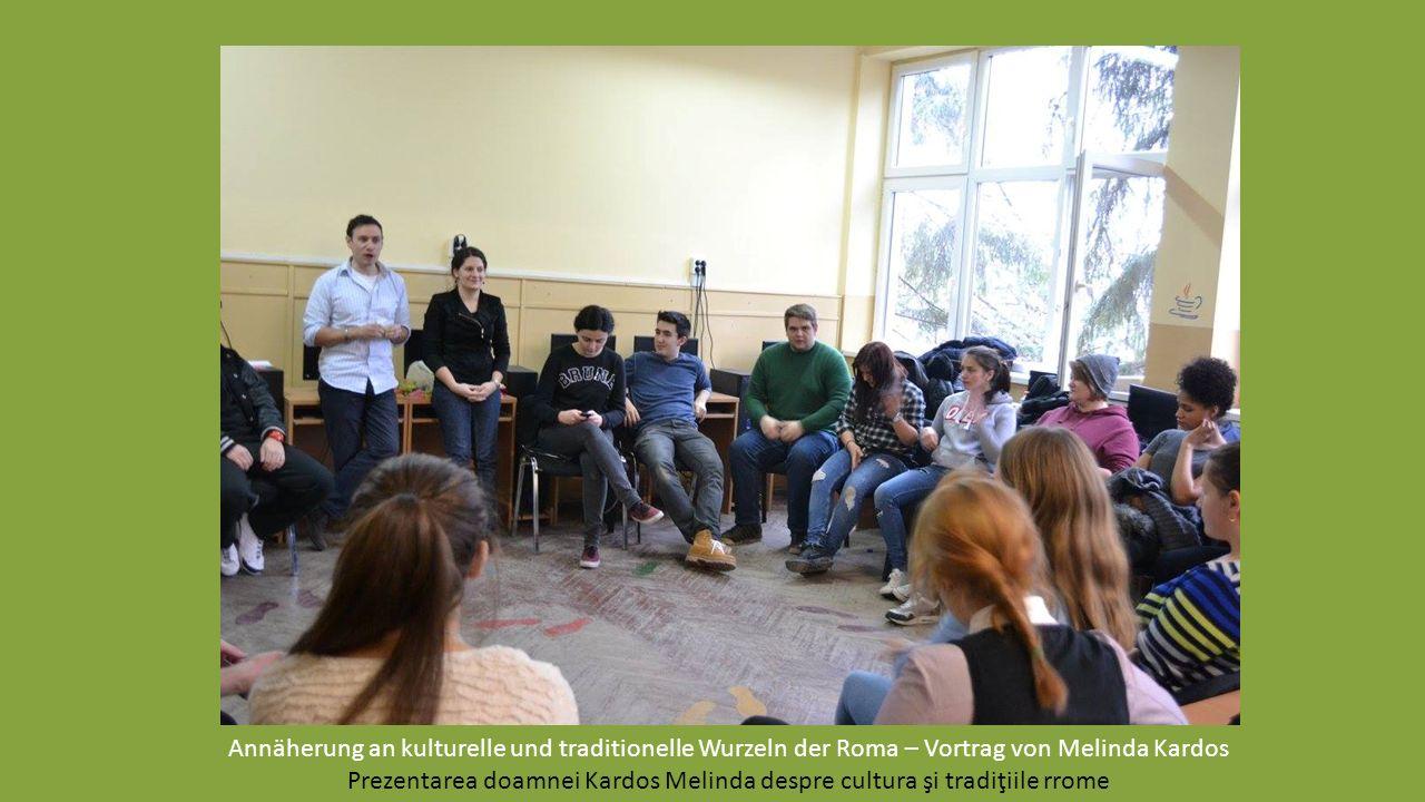 Annäherung an kulturelle und traditionelle Wurzeln der Roma – Vortrag von Melinda Kardos Prezentarea doamnei Kardos Melinda despre cultura şi tradiţiile rrome