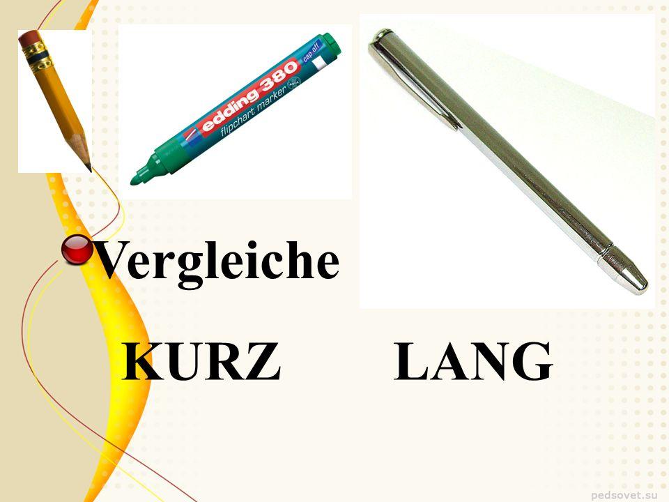 KURZ LANG Vergleiche