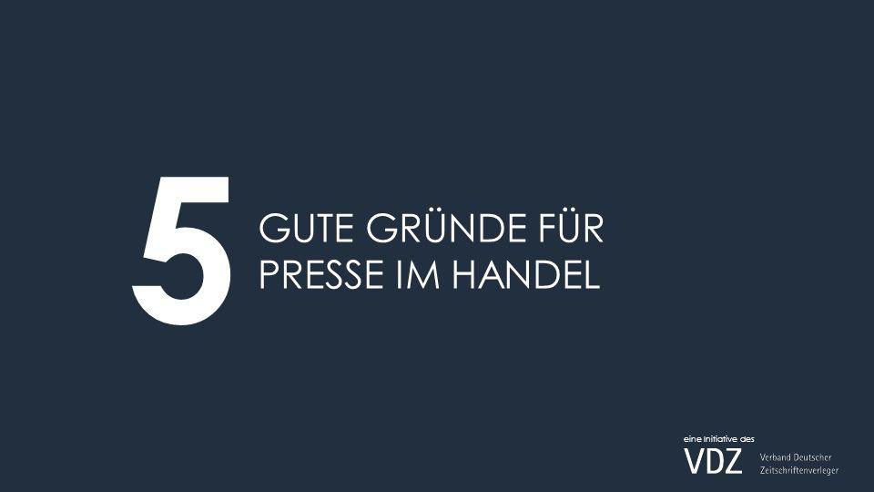 GUTE GRÜNDE FÜR PRESSE IM HANDEL 5 eine Initiative des