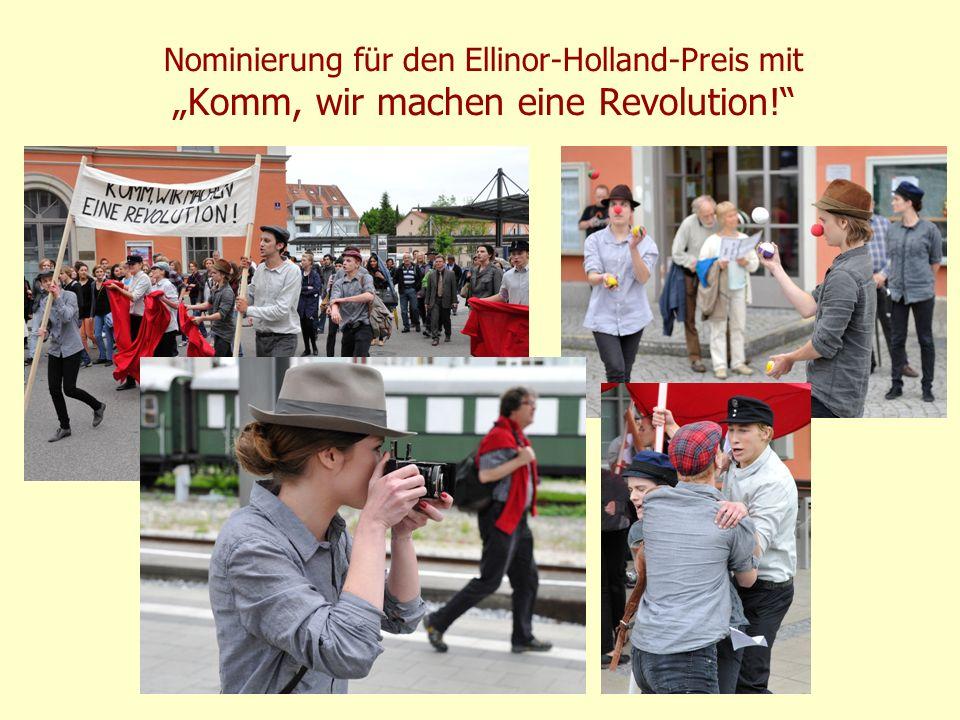 """Nominierung für den Ellinor-Holland-Preis mit """"Komm, wir machen eine Revolution!"""