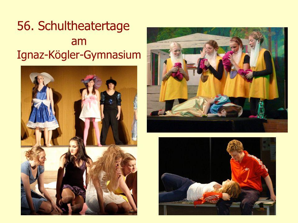 56. Schultheatertage am Ignaz-Kögler-Gymnasium