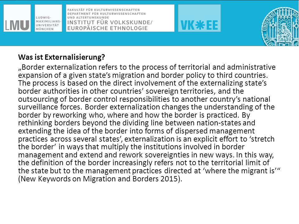 Grenz(ziehungs)praxen finden nicht mehr nur an der Grenze statt sondern auch vor oder auch hinter der Grenze.