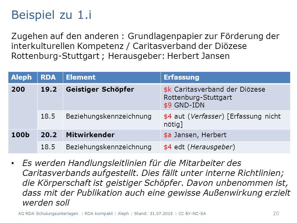 Beispiel zu 1.i Zugehen auf den anderen : Grundlagenpapier zur Förderung der interkulturellen Kompetenz / Caritasverband der Diözese Rottenburg-Stutt