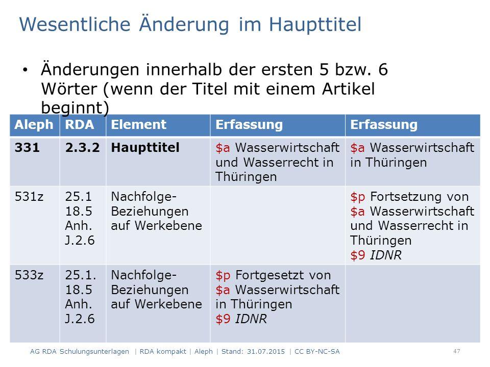 47 AlephRDAElementErfassung 3312.3.2Haupttitel$a Wasserwirtschaft und Wasserrecht in Thüringen $a Wasserwirtschaft in Thüringen 531z25.1 18.5 Anh. J.2