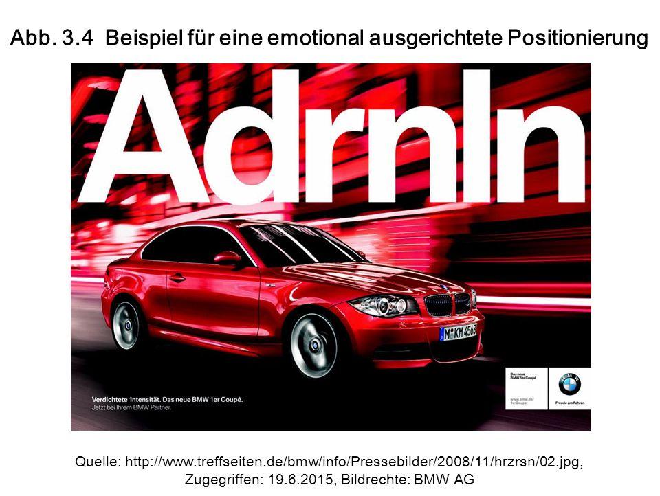 Abb. 3.4 Beispiel für eine emotional ausgerichtete Positionierung Quelle: http://www.treffseiten.de/bmw/info/Pressebilder/2008/11/hrzrsn/02.jpg, Zugeg