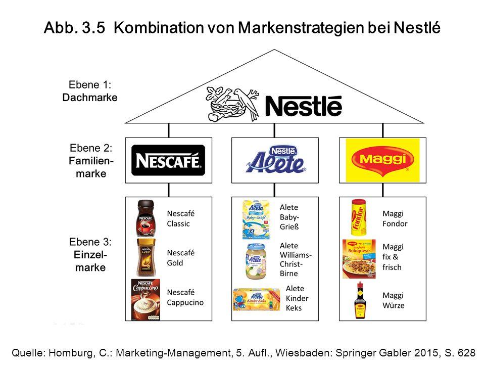 Abb. 3.5 Kombination von Markenstrategien bei Nestlé Quelle: Homburg, C.: Marketing-Management, 5.