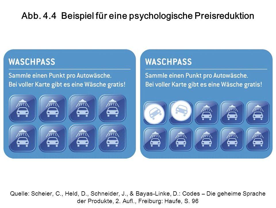 Abb. 4.4 Beispiel für eine psychologische Preisreduktion Quelle: Scheier, C., Held, D., Schneider, J., & Bayas-Linke, D.: Codes – Die geheime Sprache